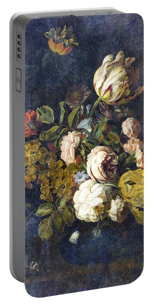 Flowers Digital Art Portable Battery Charger featuring the digital art Classical Bouquet - S0104t by Variance Collections