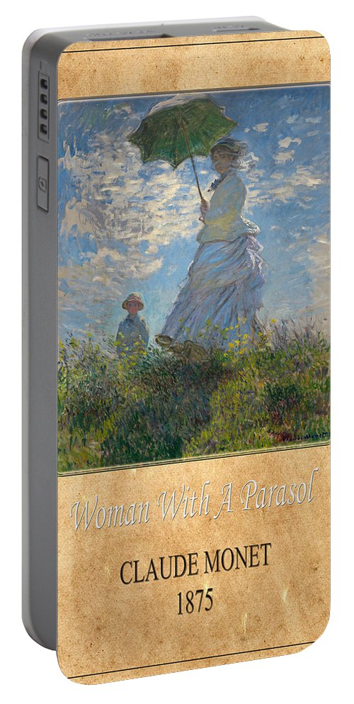 Claude Monet Portable Battery Charger featuring the photograph Claude Monet 1 by Andrew Fare