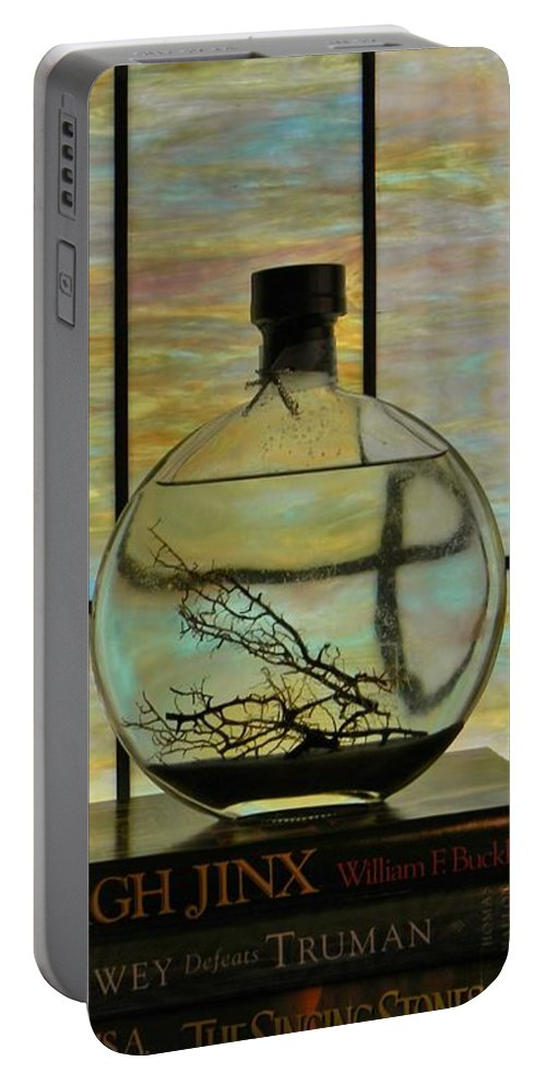 Stained Glass Portable Battery Charger featuring the photograph Clear On Color by Jean Goodwin Brooks