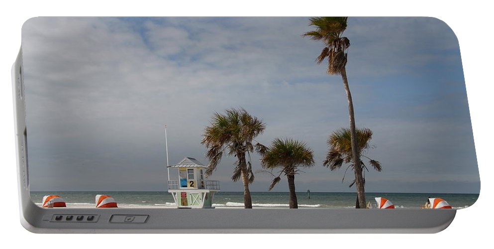 Clearwater Portable Battery Charger featuring the photograph Clearwater Beach In Wintertime by Christiane Schulze Art And Photography