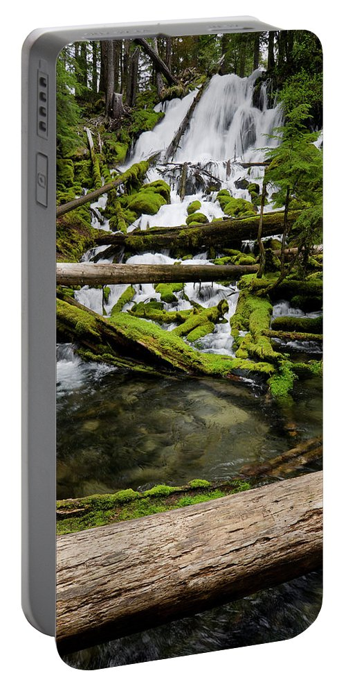 Cascades Portable Battery Charger featuring the photograph Clearwater Falls by Greg Nyquist