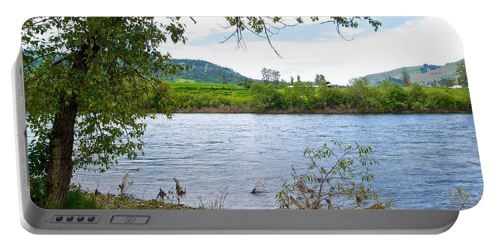 Scenic Byway 12 Portable Battery Charger featuring the photograph Clearwater River In Nez Perce National Historical Park-id by Ruth Hager