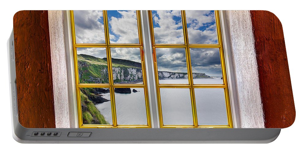 Architecture Portable Battery Charger featuring the photograph Cliff View by Semmick Photo