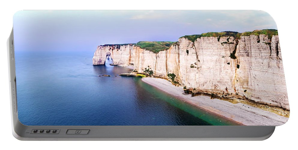 Cliff Portable Battery Charger featuring the photograph Cliffs Of Etretat 3 by Weston Westmoreland