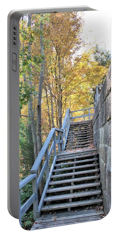Rideau Canal Portable Battery Charger featuring the photograph Climing Into Autumn by Valerie Kirkwood