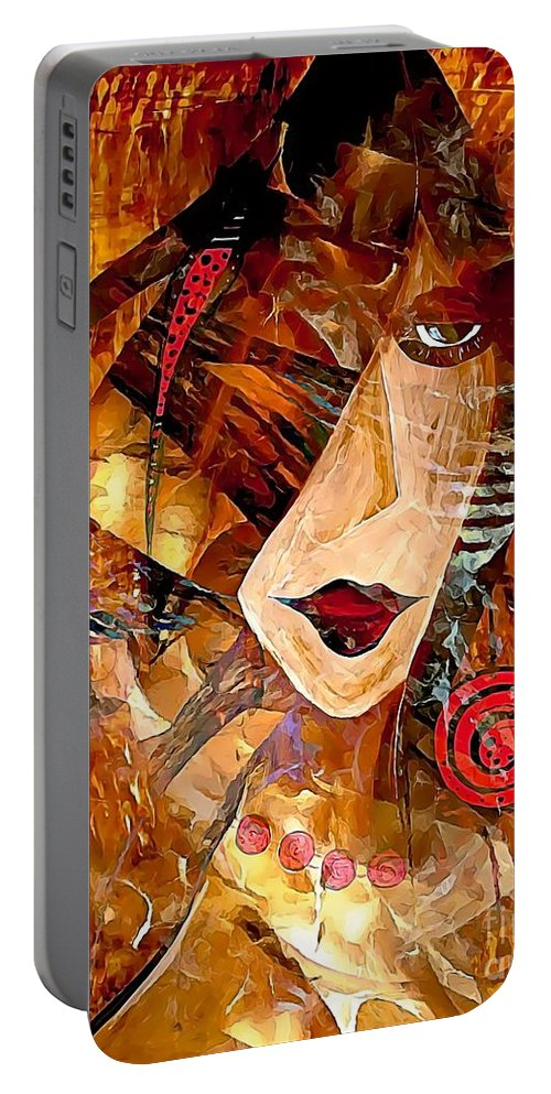 Graphics Portable Battery Charger featuring the digital art Clip 0360 Marucii by Marek Lutek
