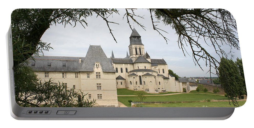Cloister Portable Battery Charger featuring the photograph Cloister Fontevraud View - France by Christiane Schulze Art And Photography