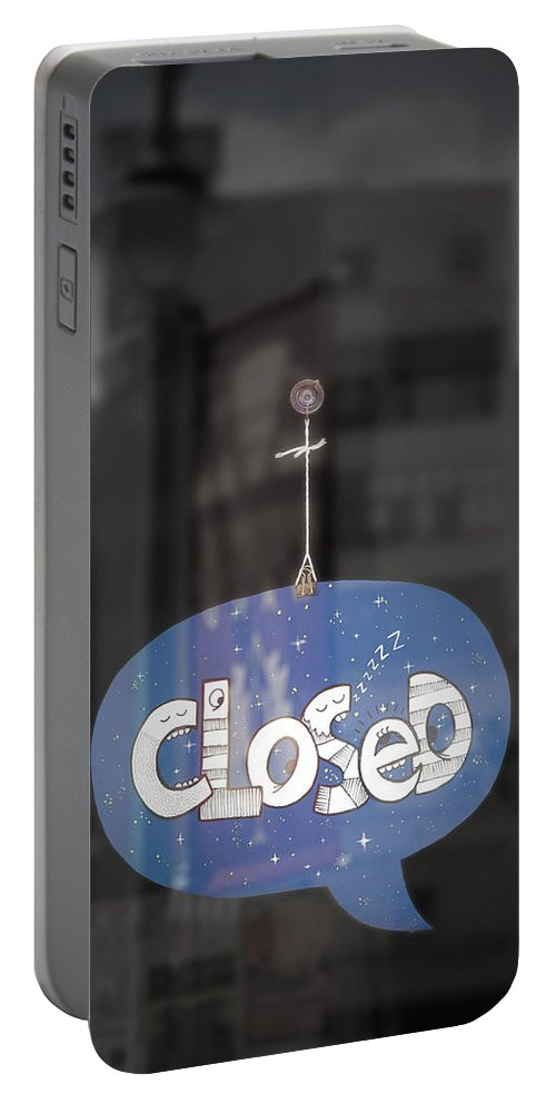 Closed Portable Battery Charger featuring the photograph Closed Sleep Tight by Scott Norris
