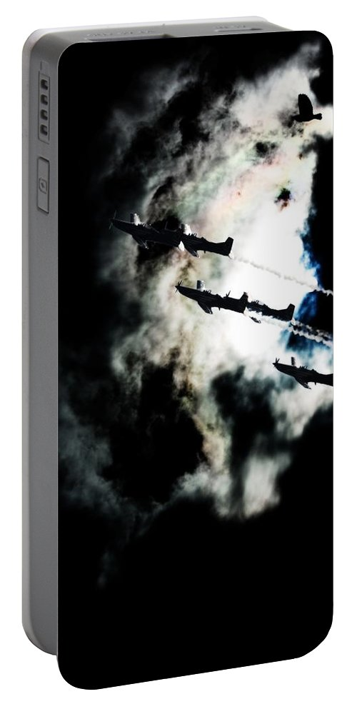 Aviation Portable Battery Charger featuring the photograph Cloud Formation by Paul Job