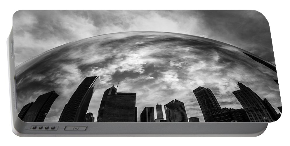 Bean Portable Battery Charger featuring the photograph Cloud Gate Chicago Bean by Paul Velgos