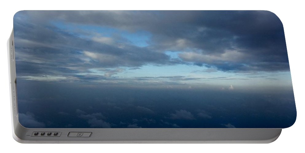 Cloudscape Portable Battery Charger featuring the photograph Cloud Horizon by Amar Sheow