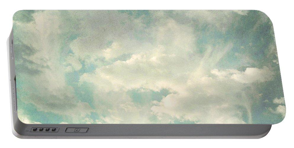 Brett Portable Battery Charger featuring the digital art Cloud Series 1 Of 6 by Brett Pfister