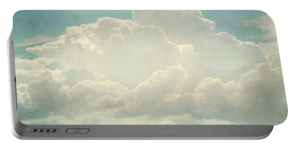 Brett Portable Battery Charger featuring the digital art Cloud Series 2 Of 6 by Brett Pfister
