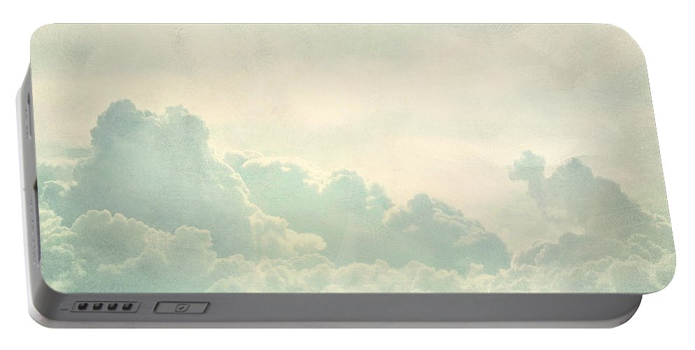 Brett Portable Battery Charger featuring the digital art Cloud Series 5 Of 6 by Brett Pfister