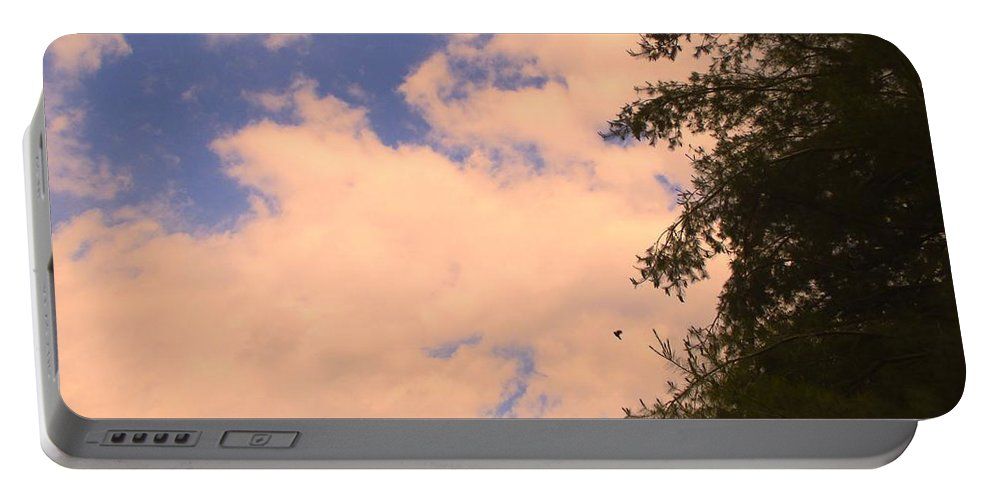 Clouds Portable Battery Charger featuring the photograph Cloud Slide by Kendall Kessler