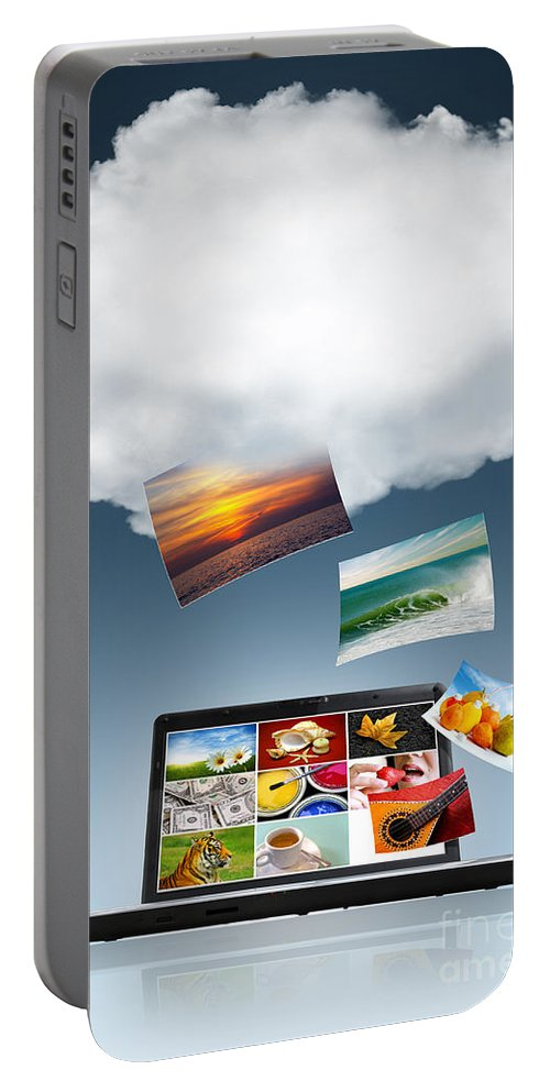 Access Portable Battery Charger featuring the photograph Cloud Technology by Carlos Caetano
