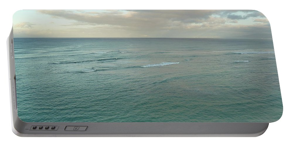 Sand Portable Battery Charger featuring the photograph Clouded Sea by Connie Handscomb