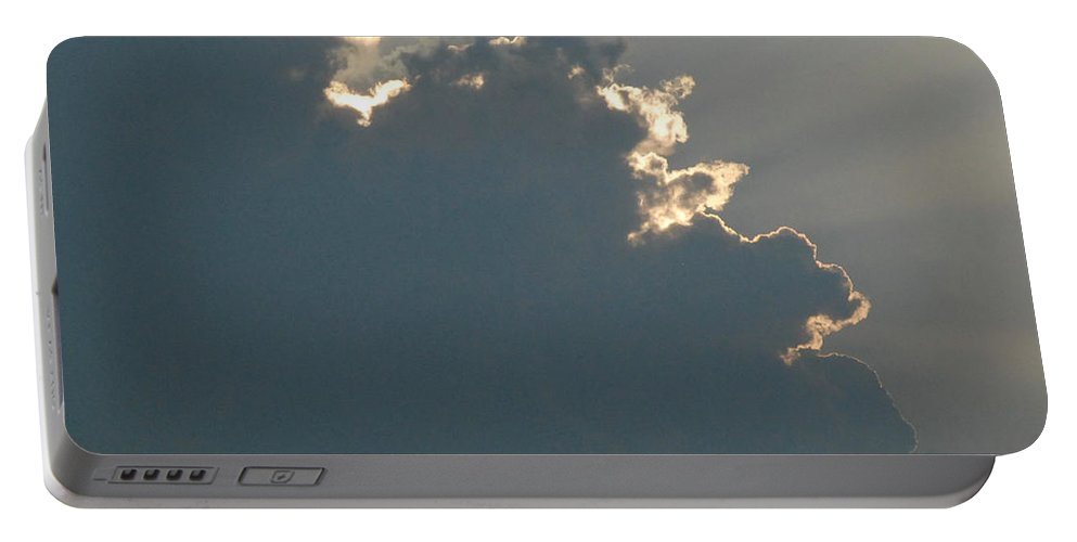 Cloud Portable Battery Charger featuring the photograph Clouds And Sun Rays by Richard Bryce and Family