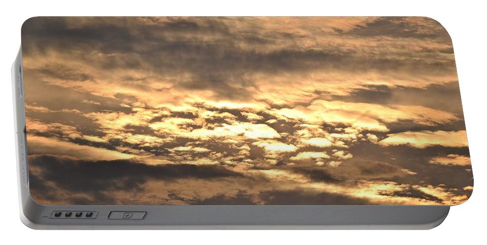 Clouds Portable Battery Charger featuring the photograph Clouds At Sunset by Tara Potts