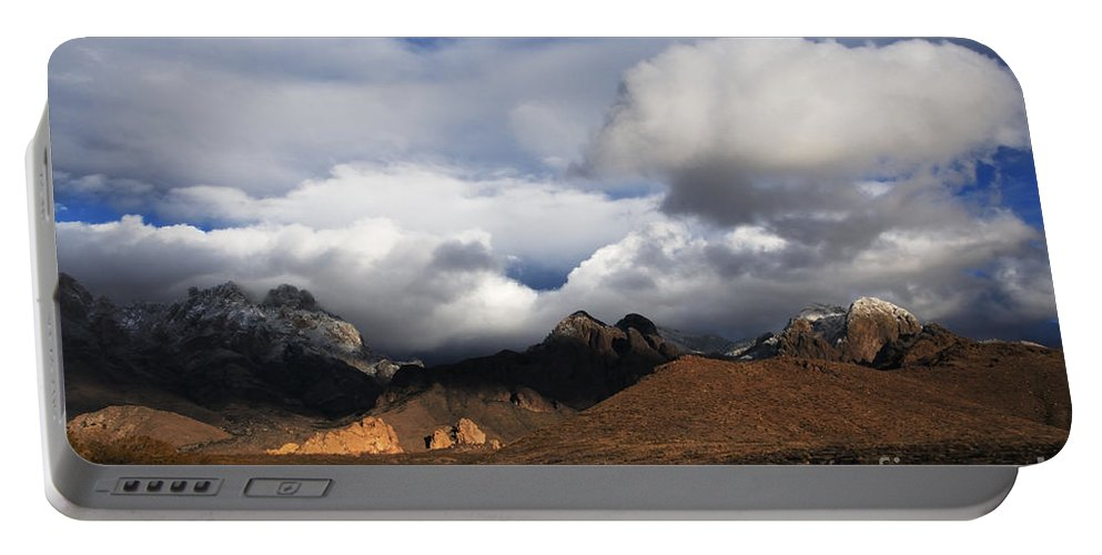 Las Cruces Portable Battery Charger featuring the photograph Clouds Building Over The Organ Mountains by Vivian Christopher