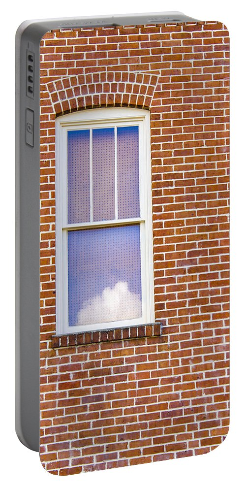 Window Portable Battery Charger featuring the photograph Clouds In My Window by Carolyn Marshall