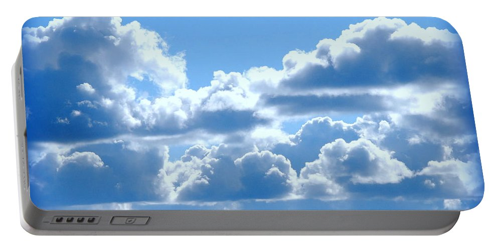 Cloud Portable Battery Charger featuring the photograph Clouds Of Glory by Kathy Sampson