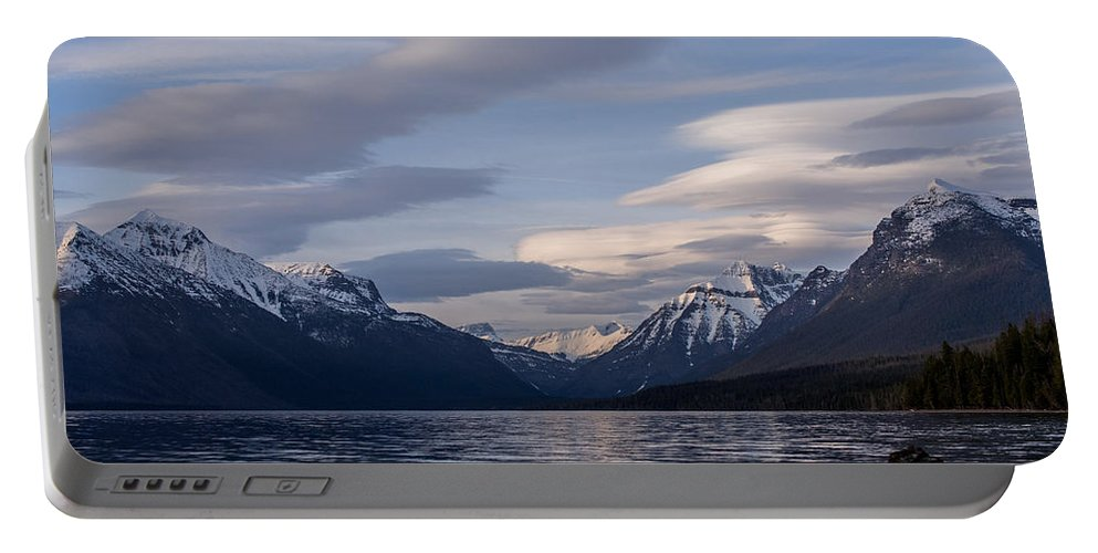 Clouds Portable Battery Charger featuring the photograph Clouds On The Lake by Aaron Aldrich