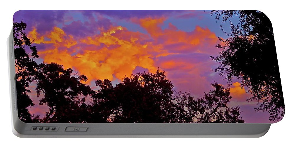 Sunset Portable Battery Charger featuring the photograph Clouds by Pamela Cooper