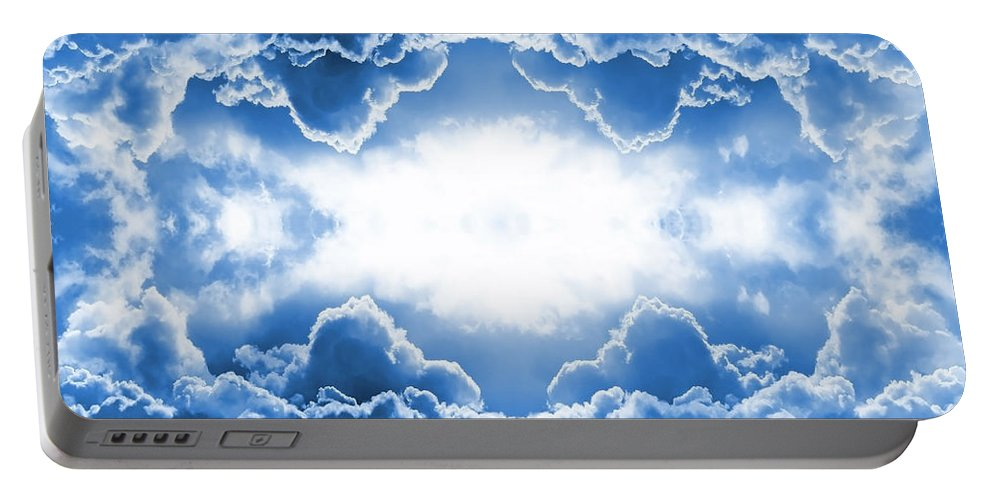 Moody Portable Battery Charger featuring the digital art Clouds by Steve Ball