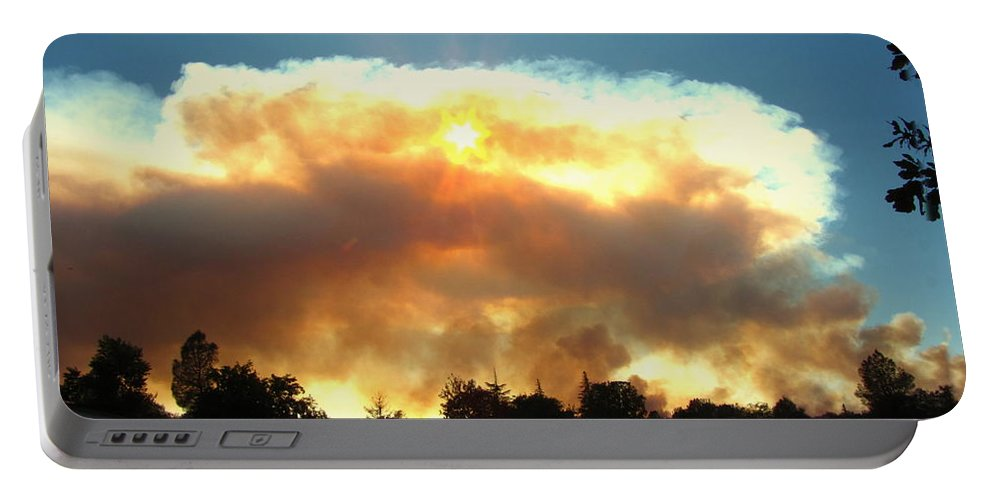Fire Portable Battery Charger featuring the photograph Clover Fire At 5 25 Pm by Joyce Dickens