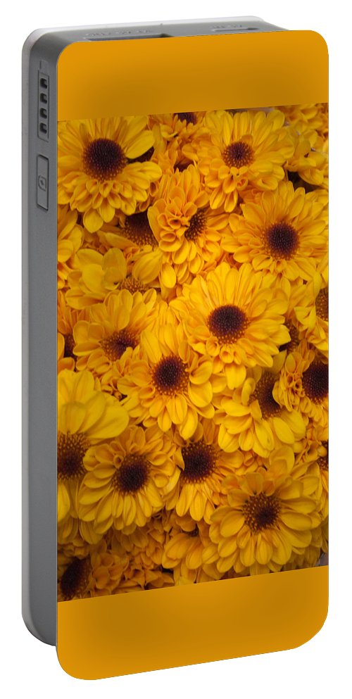 Blooms Portable Battery Charger featuring the photograph Cluster Of Yellow Blooms by Jill Mitchell