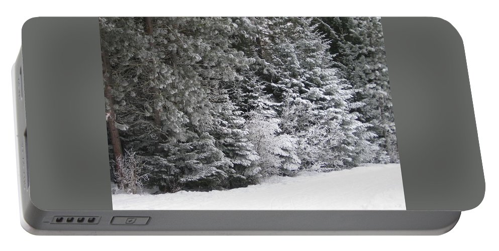 Winter Portable Battery Charger featuring the photograph Coal Miner's Trail by Kimberly Maxwell Grantier