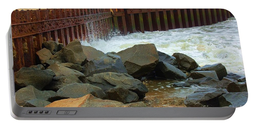 Water Portable Battery Charger featuring the photograph Coast Of Carolina by Debbi Granruth