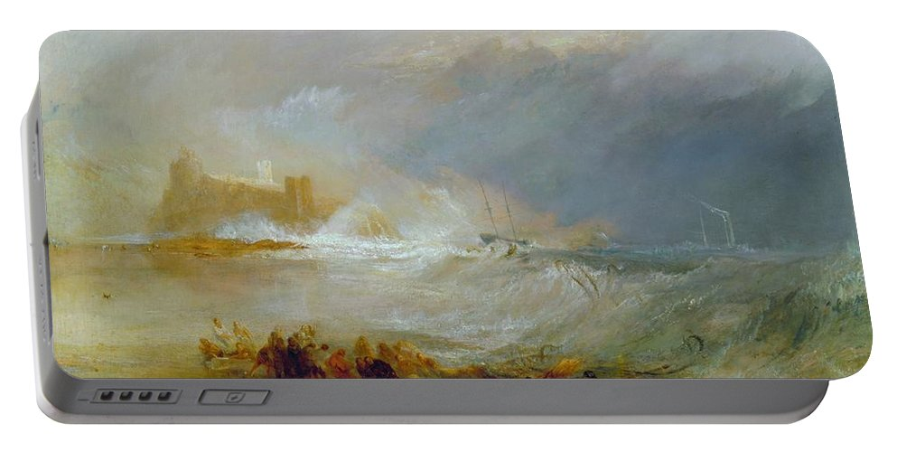 1833 Portable Battery Charger featuring the painting Coast Of Northumberland by JMW Turner