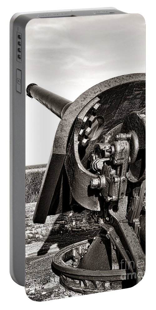Coastal Portable Battery Charger featuring the photograph Coastal Artillery by Olivier Le Queinec