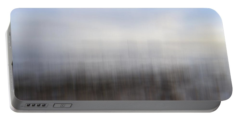 Abstract Portable Battery Charger featuring the photograph Coastal Edge by Kevin Round