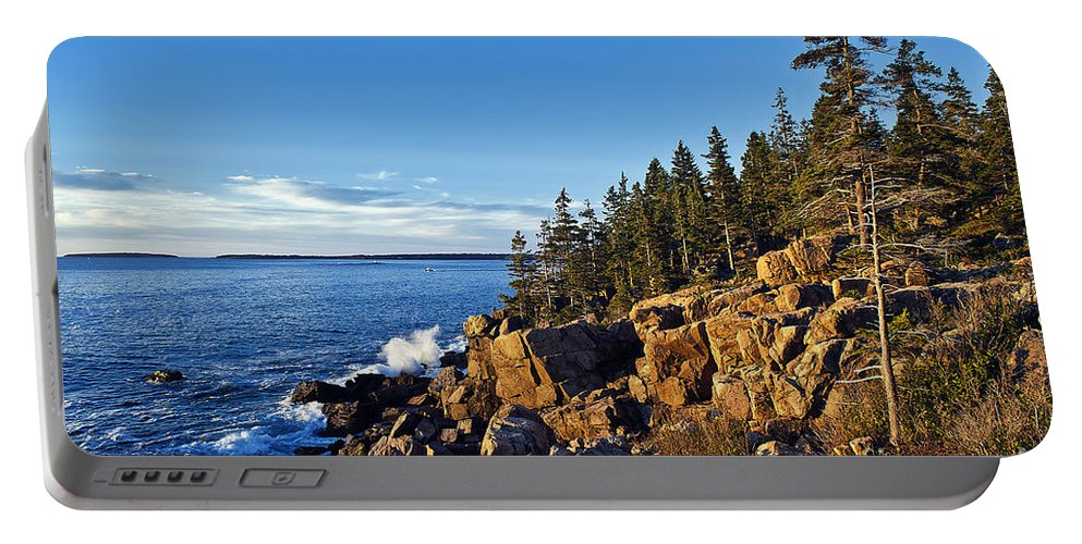 Acadia Portable Battery Charger featuring the photograph Coastal Maine Landscape. by John Greim