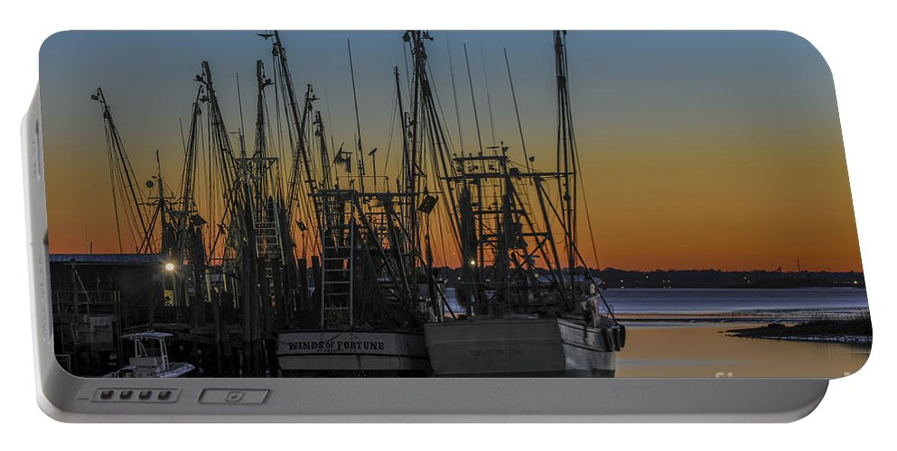 Shem Creek Portable Battery Charger featuring the photograph Coastal Sunset by Dale Powell