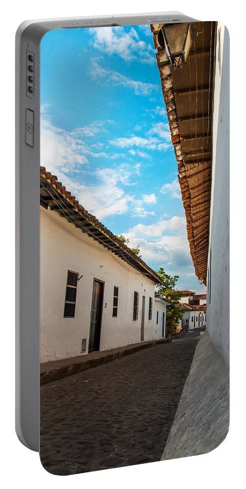 Cobblestone Portable Battery Charger featuring the photograph Cobblestone Street by Jess Kraft