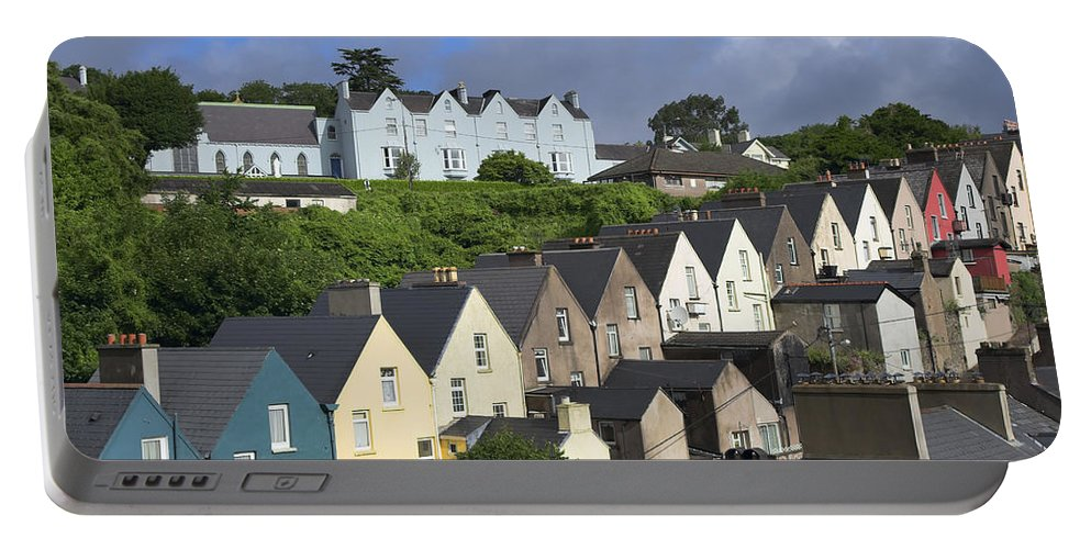 Cobh Portable Battery Charger featuring the photograph Cobh Town Houses by Artur Bogacki