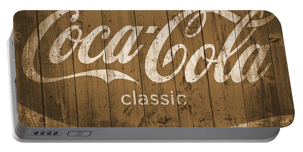 Coca Cola Classic Barn Portable Battery Charger featuring the photograph Coca Cola Classic Barn by Dan Sproul