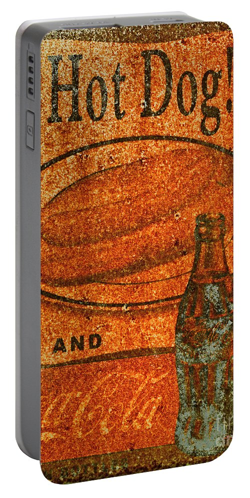Paul Ward Portable Battery Charger featuring the photograph Coca Cola Rusty Sign by Paul Ward