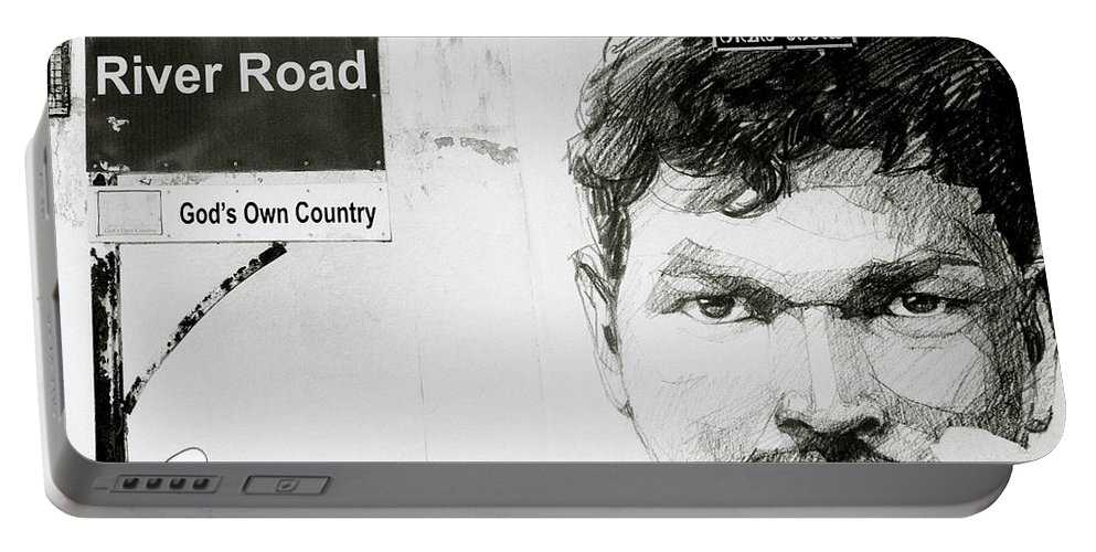 Graffiti Portable Battery Charger featuring the photograph Street Art In Cochin by Shaun Higson