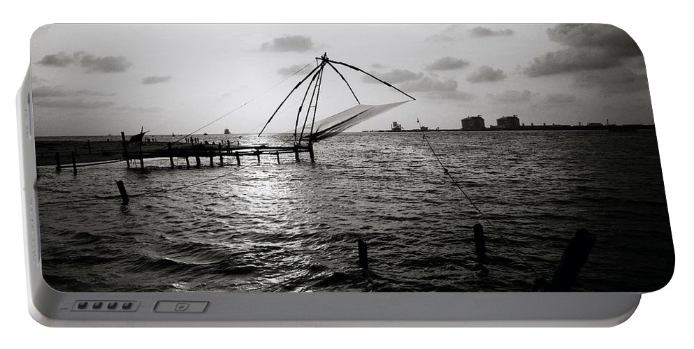 Seascape Portable Battery Charger featuring the photograph Dusk At Cochin by Shaun Higson