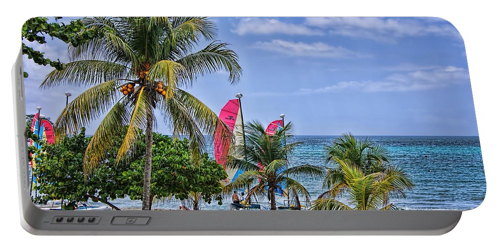 Coconut Tree Portable Battery Charger featuring the photograph Coconut Tree by Olga Hamilton