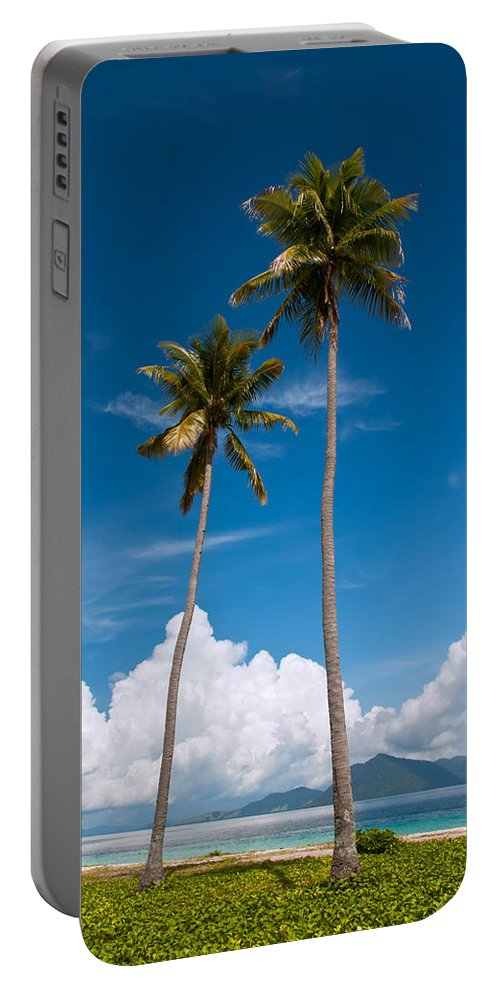 Coconut Portable Battery Charger featuring the photograph Coconut Trees by Kim Pin Tan