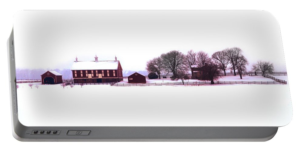 Codori Portable Battery Charger featuring the photograph Codori Farm At Gettysburg In Winter by Bill Cannon