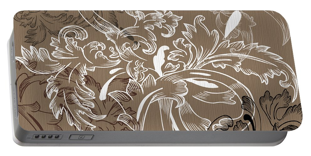 Flowers Portable Battery Charger featuring the digital art Coffee Flowers 11 by Angelina Vick