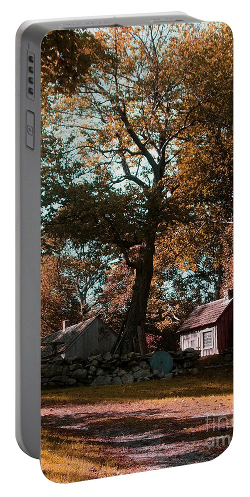 Coggeshall Farm Photograph Portable Battery Charger featuring the photograph Coggeshall Farm Bristol Ri by Tom Prendergast