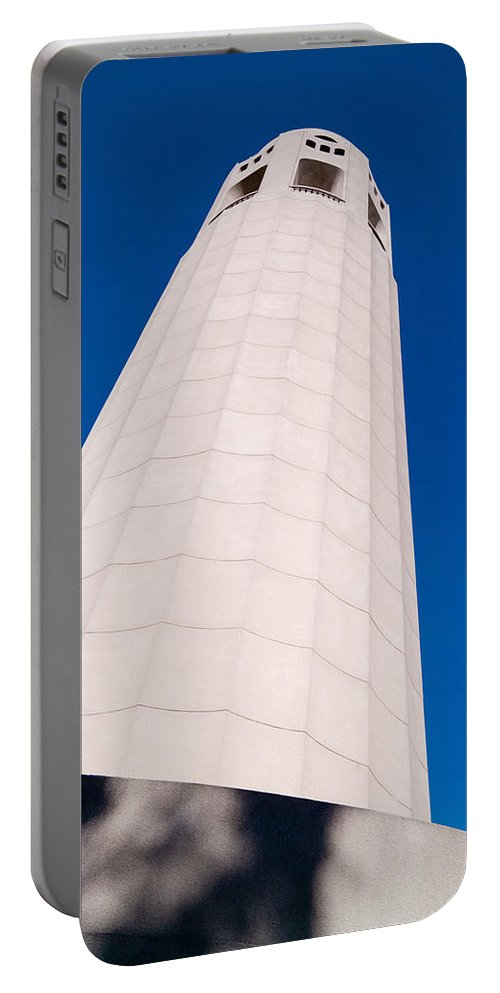 Coit Tower Portable Battery Charger featuring the photograph Coit Tower San Francisco by David Smith